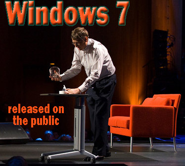 Microsoft releases Windows 7 on the public